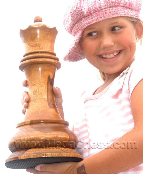 MegaChess 14 Inch Light Teak Queen Giant Chess Piece |  | MegaChess.com