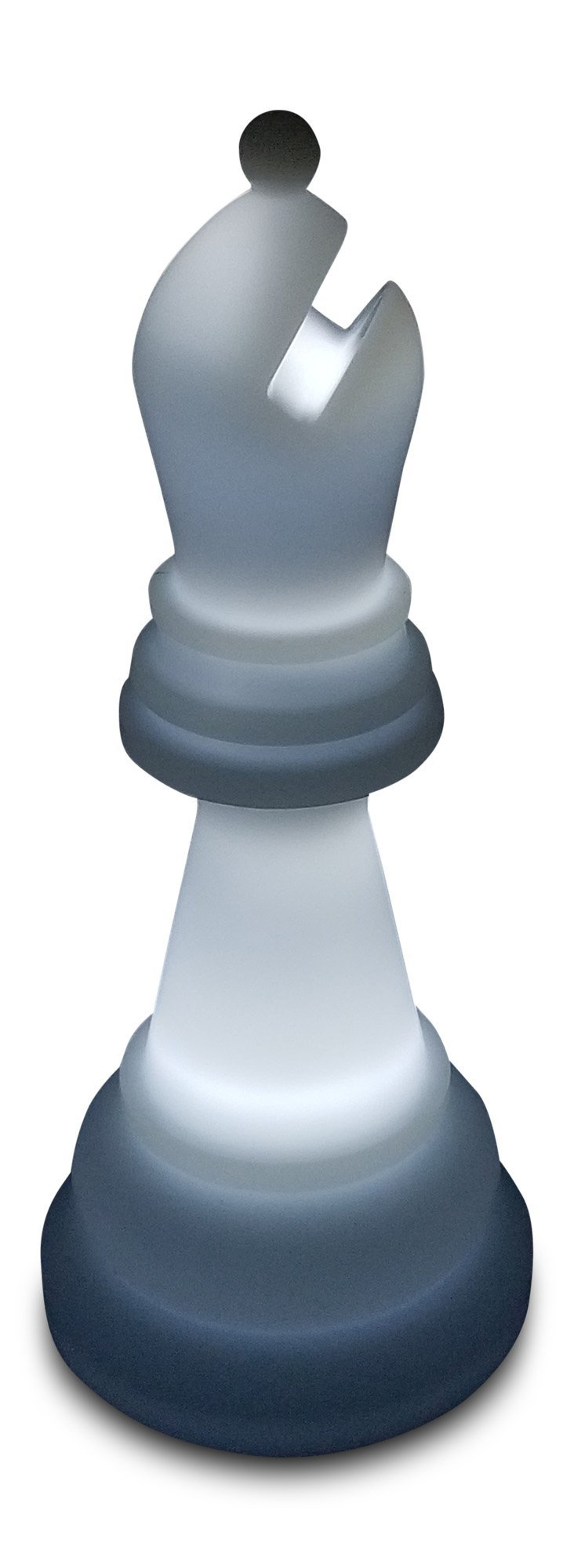 MegaChess 20 Inch Premium Plastic Bishop Light-Up Giant Chess Piece - White |  | MegaChess.com
