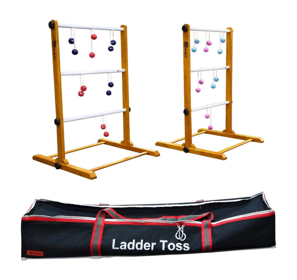 Uber Games Double Premium Ladder Toss | Double - Red/Navy/Pink/Sky Blue | MegaChess.com
