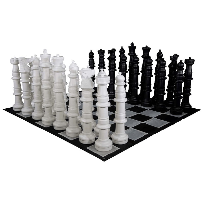 MegaChess 49 Inch Plastic Giant Chess Set with Nylon Mat | Default Title | MegaChess.com