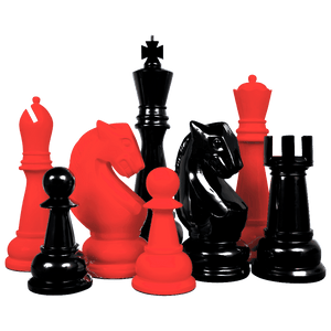 MegaChess Custom 36 Inch Fiberglass Giant Chess Set | Change One Color | MegaChess.com