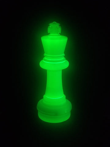 MegaChess 25 Inch LED King Individual Plastic Chess Piece - Green |  | MegaChess.com