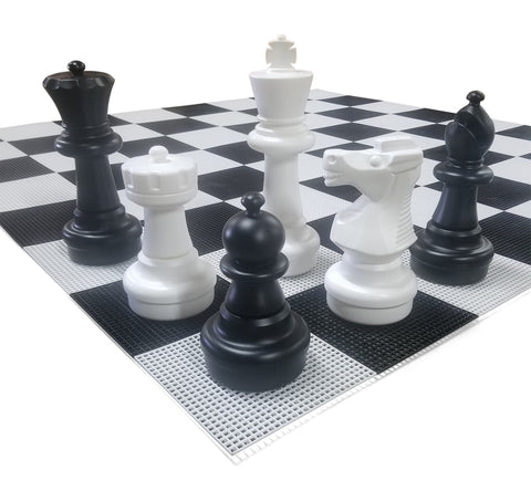 MegaChess 25 Inch Plastic Giant Chess Set with Plastic Board | Default Title | MegaChess.com