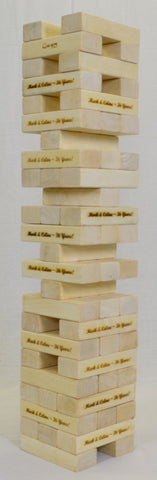 Customized Mega Tumble Tower Hardwood | 14 Blocks | MegaChess.com