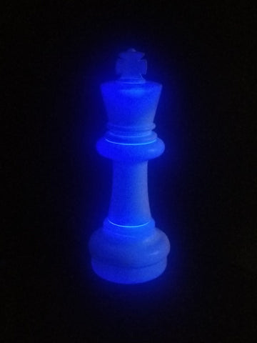 MegaChess 25 Inch LED King Individual Plastic Chess Piece - Blue |  | MegaChess.com
