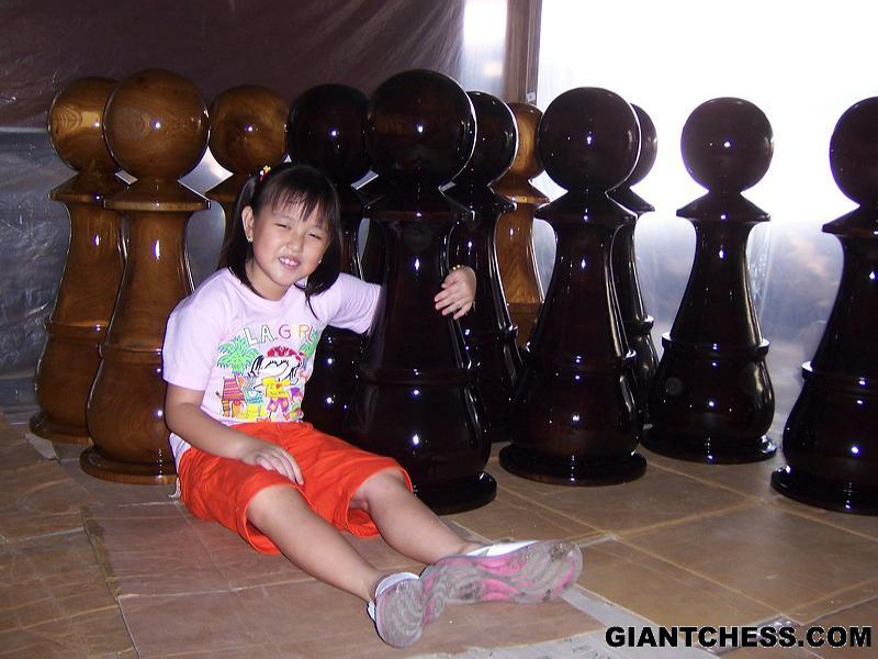 MegaChess 72 Inch Teak Giant Chess Set |  | MegaChess.com