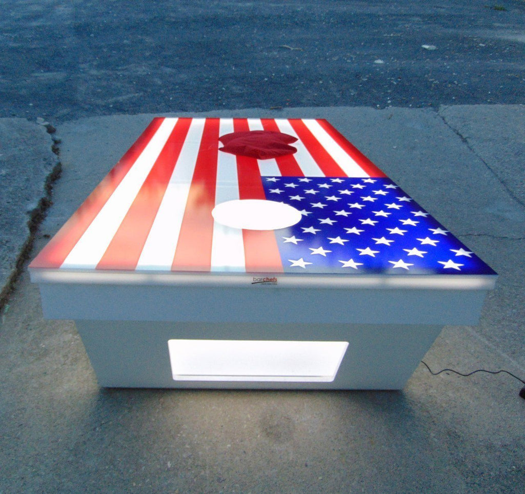 Jumbo Light Up 8x4 Cornhole Boards Set