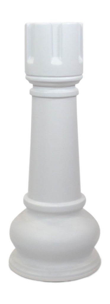 MegaChess 42 Inch White Fiberglass Rook Giant Chess Piece |  | MegaChess.com