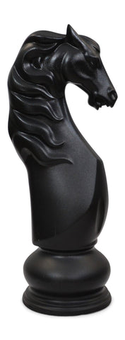 MegaChess 50 Inch Black Fiberglass Knight Giant Chess Piece |  | MegaChess.com