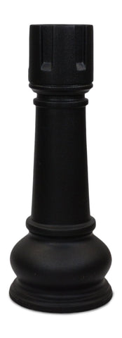 MegaChess 42 Inch Black Fiberglass Rook Giant Chess Piece |  | MegaChess.com