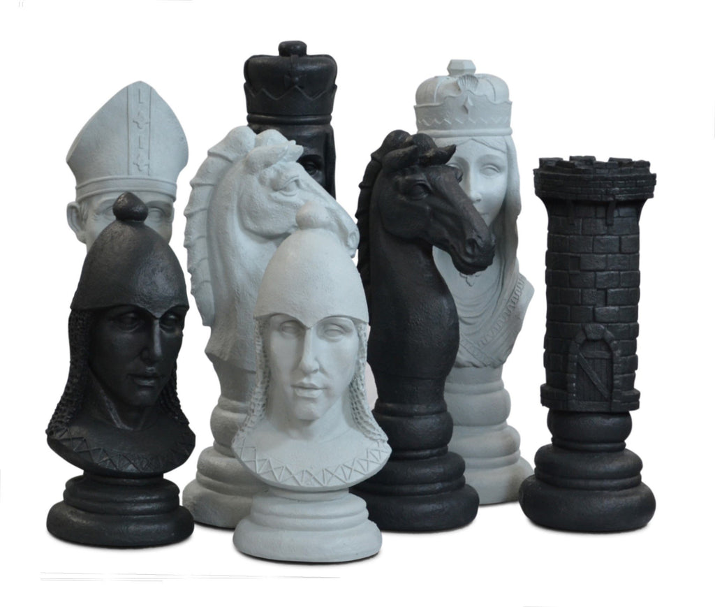 MegaChess 24 Inch Medieval Fiberglass Giant Chess Set | No Board / No Checkers | MegaChess.com