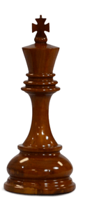 MegaChess 8 Inch Light Teak King Giant Chess Piece |  | MegaChess.com