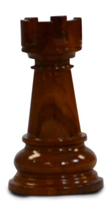 MegaChess 5 Inch Light Teak Rook Giant Chess Piece |  | MegaChess.com
