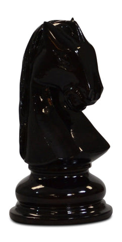 MegaChess 8 Inch Dark Teak Knight Giant Chess Piece |  | MegaChess.com