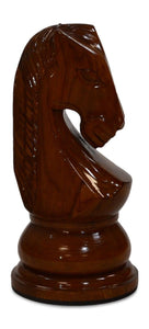 MegaChess 28 Inch Light Teak Knight Giant Chess Piece |  | MegaChess.com