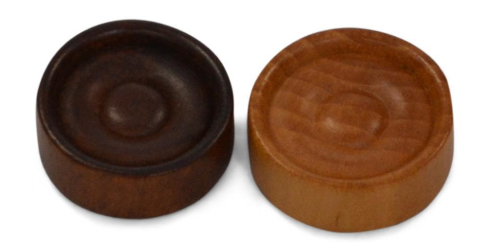 MegaChess 1.75 Inch Rubber Tree Wood Checkers |  | MegaChess.com