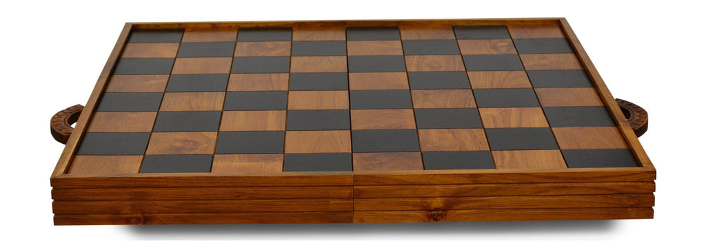 "MegaChess MegaBox Teak Giant Chess Board With 4 Inch Squares - 2' 10"" x 2' 10"" 