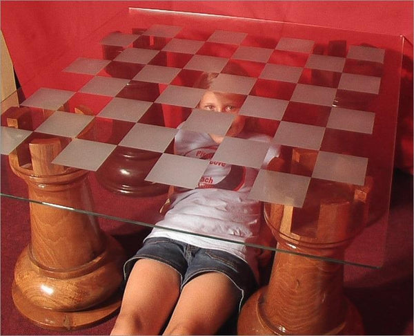 MegaChess 36 Inch Etched Glass Giant Chess Board