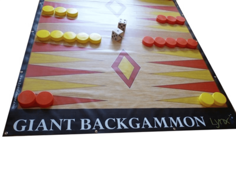 LawnGames Giant BackGammon (8 feet by 7 feet) |  | MegaChess.com
