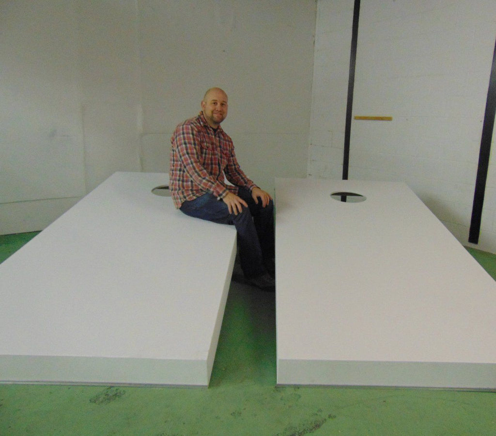 Giant Cornhole Set 8'x4' Primed Wood |  | MegaChess.com