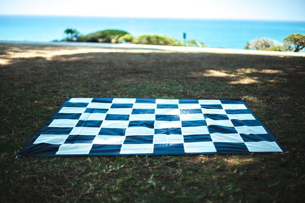"MegaChess Quick Fold Nylon Giant Chess Mat With 6 Inch Squares - 4' 7"" x 4' 7"""