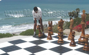 "MegaChess Commercial Grade Hard Plastic Roll Up Giant Chess Board WIth 26"" Squares 17' 4"" x 17' 4"" Available ADA Compliant Safety Edge Ramps 