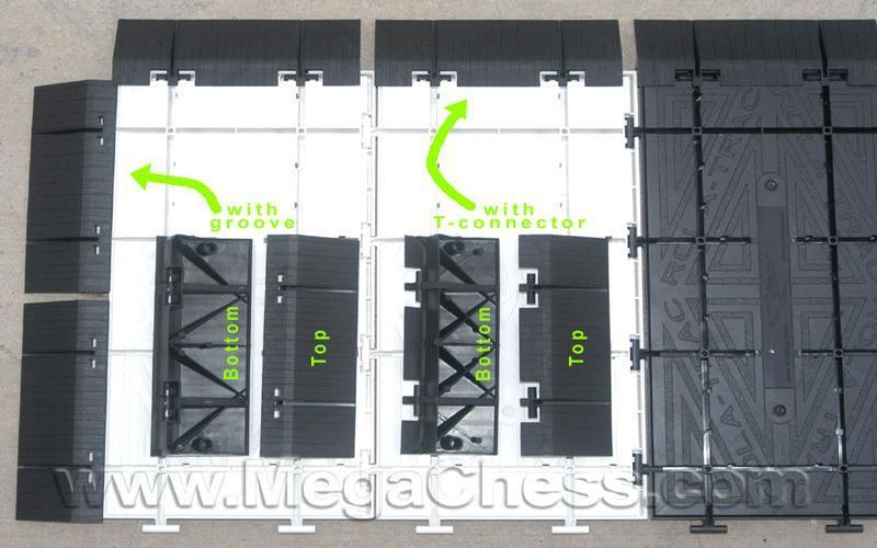 "MegaChess Commercial Grade Hard Plastic Roll Up Giant Chess Board WIth 26"" Squares 17' 4"" x 17' 4"" Available ADA Compliant Safety Edge Ramps"