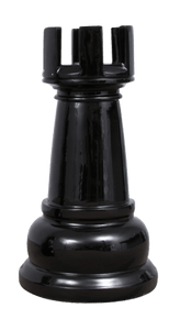 MegaChess 23 Inch Black Fiberglass Rook Giant Chess Piece |  | MegaChess.com