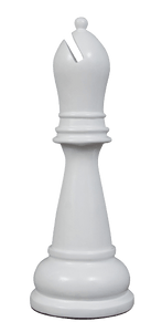 MegaChess 34 Inch White Fiberglass Bishop Giant Chess Piece