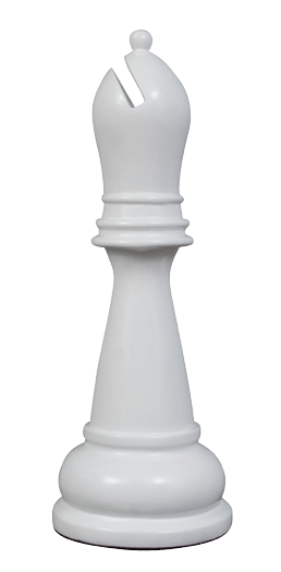 MegaChess 34 Inch White Fiberglass Bishop Giant Chess Piece |  | MegaChess.com