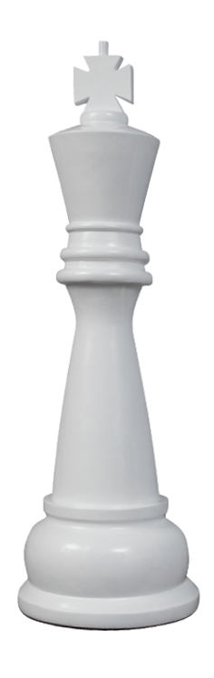 MegaChess 48 Inch White Fiberglass King Giant Chess Piece