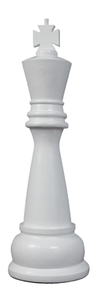 MegaChess 48 Inch White Fiberglass King Giant Chess Piece |  | MegaChess.com