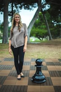MegaChess 20 Inch Black Fiberglass Pawn Giant Chess Piece |  | MegaChess.com