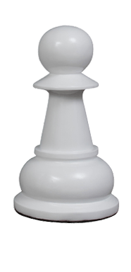 MegaChess 20 Inch White Fiberglass Pawn Giant Chess Piece |  | MegaChess.com