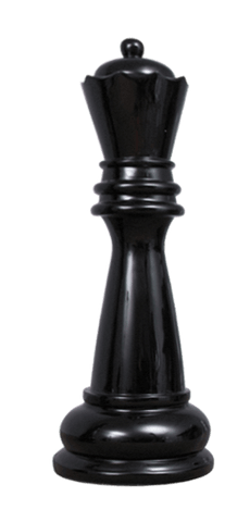MegaChess 39 Inch Black Fiberglass Queen Giant Chess Piece |  | MegaChess.com