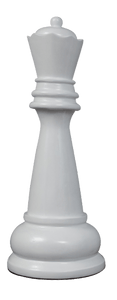 MegaChess 39 Inch White Fiberglass Queen Giant Chess Piece |  | MegaChess.com