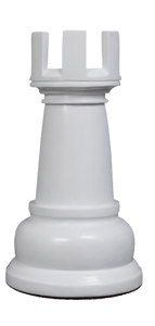 MegaChess 23 Inch White Fiberglass Rook Giant Chess Piece |  | MegaChess.com
