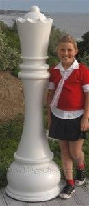 MegaChess 61 Inch White Fiberglass Queen Giant Chess Piece |  | MegaChess.com