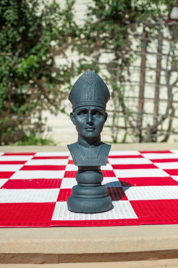 MegaChess 18 Inch Dark Fiberglass Medieval Bishop Giant Chess Piece |  | MegaChess.com