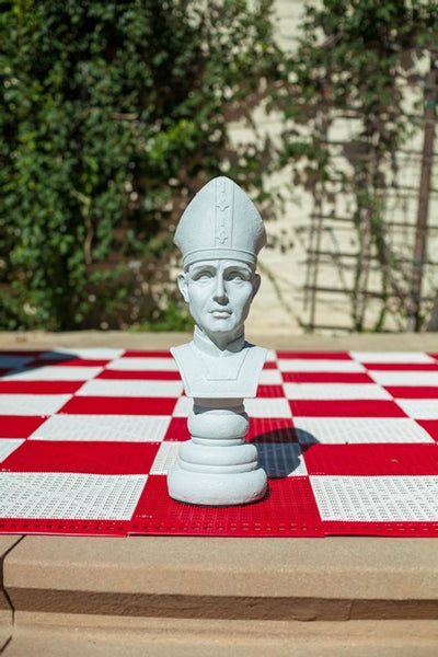 MegaChess 18 Inch Light Fiberglass Medieval Bishop Giant Chess Piece |  | MegaChess.com