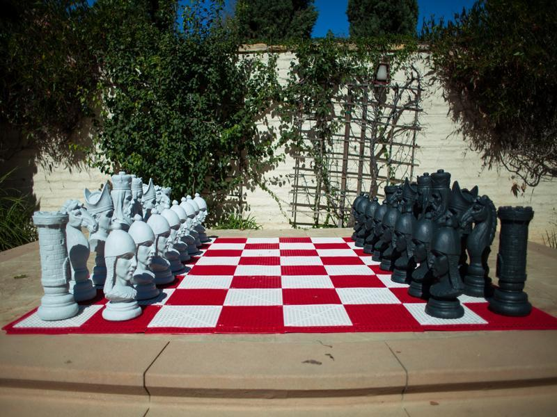 Giant Chess Sets | Light-Up LED Giant Chess Sets