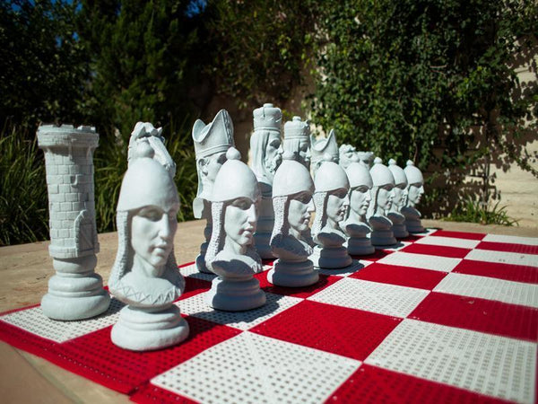 MegaChess 24 Inch Medieval Fiberglass Giant Chess Set