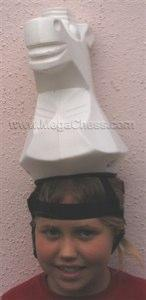 Plastic Hat For a Chess Set, White Knight |  | MegaChess.com