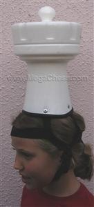 Plastic Hat For a Chess Set, White Rook |  | MegaChess.com