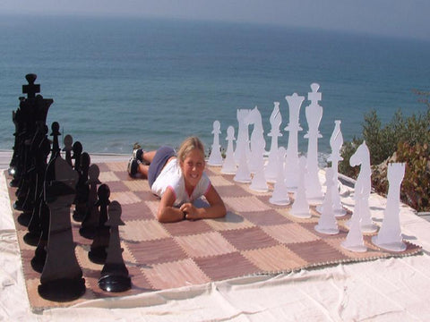 Giant Acrylic Chess Sets - 24 Inches Tall