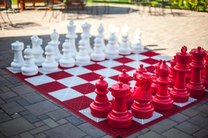 MegaChess 25 Inch Plastic Red Giant Chess Set (Indoor Only) |  | MegaChess.com