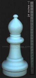MegaChess 21 Inch Light Plastic Bishop Giant Chess Piece |  | MegaChess.com