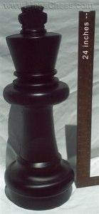 MegaChess 25 Inch Dark Plastic King Giant Chess Piece
