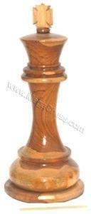 MegaChess 36 Inch Light Teak King Giant Chess Piece |  | MegaChess.com