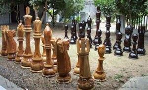 MegaChess 30 Inch Light Teak Pawn Giant Chess Piece |  | MegaChess.com